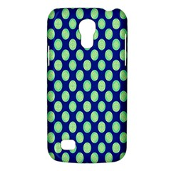 Mod Retro Green Circles On Blue Galaxy S4 Mini by BrightVibesDesign