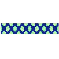 Mod Retro Green Circles On Blue Flano Scarf (large)  by BrightVibesDesign