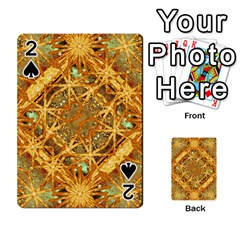 Digital Abstract Geometric Collage Playing Cards 54 Designs