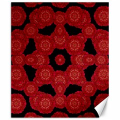 Stylized Floral Check Canvas 20  X 24   by dflcprints
