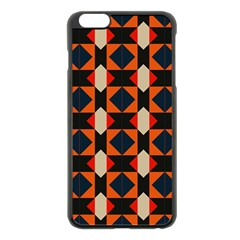 Rhombus And Stripes      			apple Iphone 6 Plus/6s Plus Black Enamel Case by LalyLauraFLM