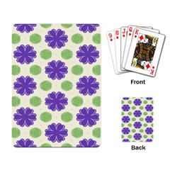 Purple Flowers Pattern        			playing Cards Single Design by LalyLauraFLM