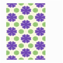 Purple Flowers Pattern        Small Garden Flag by LalyLauraFLM
