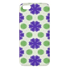 Purple Flowers Pattern        			apple Iphone 5 Premium Hardshell Case by LalyLauraFLM