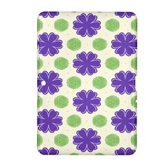 Purple Flowers Pattern        			samsung Galaxy Tab 2 (10 1 ) P5100 Hardshell Case by LalyLauraFLM