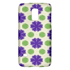 Purple Flowers Pattern        			samsung Galaxy S5 Mini Hardshell Case by LalyLauraFLM
