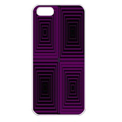 Purple Black Rectangles         			apple Iphone 5 Seamless Case (white) by LalyLauraFLM
