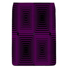 Purple Black Rectangles         			removable Flap Cover (l) by LalyLauraFLM