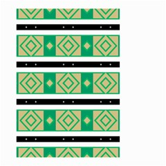 Green Rhombus And Stripes           Small Garden Flag by LalyLauraFLM