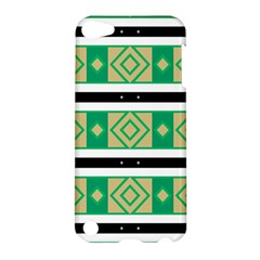 Green Rhombus And Stripes           			apple Ipod Touch 5 Hardshell Case by LalyLauraFLM