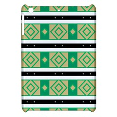 Green Rhombus And Stripes           			apple Ipad Mini Hardshell Case by LalyLauraFLM