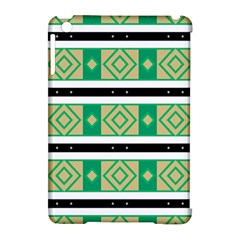 Green Rhombus And Stripes           			apple Ipad Mini Hardshell Case (compatible With Smart Cover) by LalyLauraFLM