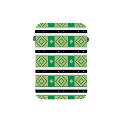 Green Rhombus And Stripes           			apple Ipad Mini Protective Soft Case by LalyLauraFLM
