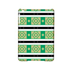 Green Rhombus And Stripes           			apple Ipad Mini 2 Hardshell Case by LalyLauraFLM