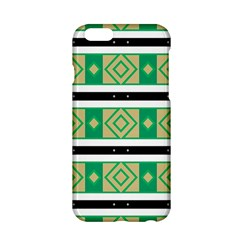Green Rhombus And Stripes           			apple Iphone 6/6s Hardshell Case by LalyLauraFLM