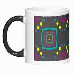 Squares And Circles Pattern Morph Mug by LalyLauraFLM