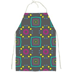Squares And Circles Pattern 			full Print Apron by LalyLauraFLM