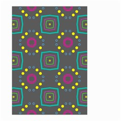 Squares And Circles Pattern Small Garden Flag by LalyLauraFLM