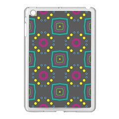 Squares And Circles Pattern 			apple Ipad Mini Case (white) by LalyLauraFLM