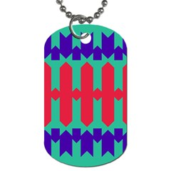 Purple Yellow Shapes  			dog Tag (one Side) by LalyLauraFLM