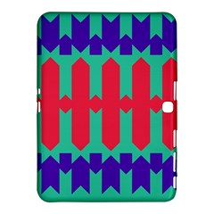 Purple Yellow Shapes  			samsung Galaxy Tab 4 (10 1 ) Hardshell Case by LalyLauraFLM
