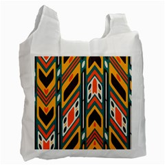Distorted Shapes In Retro Colors   			recycle Bag (one Side) by LalyLauraFLM