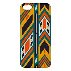 Distorted Shapes In Retro Colors   			iphone 5s Premium Hardshell Case by LalyLauraFLM