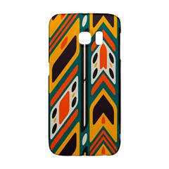 Distorted Shapes In Retro Colors   			samsung Galaxy S6 Edge Hardshell Case by LalyLauraFLM