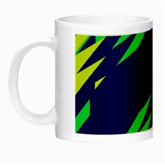 3 Colors Shapes    Night Luminous Mug by LalyLauraFLM