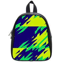 3 Colors Shapes    			school Bag (small) by LalyLauraFLM