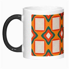 Flowers And Squares Pattern     Morph Mug by LalyLauraFLM