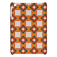 Flowers And Squares Pattern     			apple Ipad Mini Hardshell Case by LalyLauraFLM