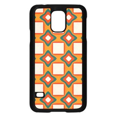 Flowers And Squares Pattern     			samsung Galaxy S5 Case (black) by LalyLauraFLM