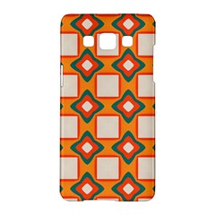 Flowers And Squares Pattern     			samsung Galaxy A5 Hardshell Case by LalyLauraFLM