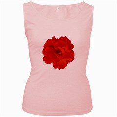 Red Rose Photo Women s Pink Tank Top
