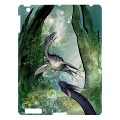 Awesome Seadraon In A Fantasy World With Bubbles Apple Ipad 3/4 Hardshell Case by FantasyWorld7