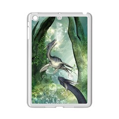 Awesome Seadraon In A Fantasy World With Bubbles Ipad Mini 2 Enamel Coated Cases by FantasyWorld7