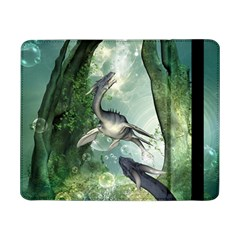 Awesome Seadraon In A Fantasy World With Bubbles Samsung Galaxy Tab Pro 8 4  Flip Case by FantasyWorld7