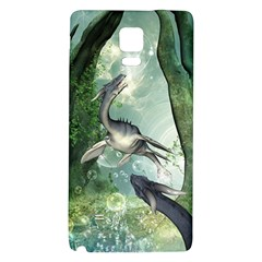 Awesome Seadraon In A Fantasy World With Bubbles Galaxy Note 4 Back Case by FantasyWorld7