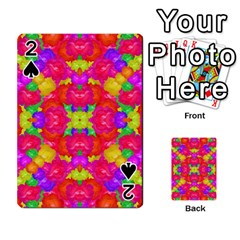 Multicolor Floral Check Playing Cards 54 Designs  by dflcprints