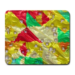 Colorful 3d Texture   			large Mousepad by LalyLauraFLM