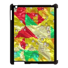 Colorful 3d Texture   			apple Ipad 3/4 Case (black) by LalyLauraFLM