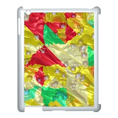 Colorful 3d Texture   			apple Ipad 3/4 Case (white) by LalyLauraFLM