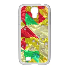 Colorful 3d Texture   			samsung Galaxy S4 I9500/ I9505 Case (white) by LalyLauraFLM
