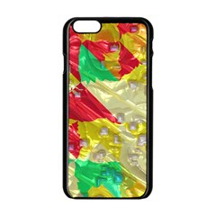 Colorful 3d Texture   			apple Iphone 6/6s Black Enamel Case by LalyLauraFLM