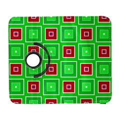 Green Red Squares Pattern    			samsung Galaxy S Iii Flip 360 Case by LalyLauraFLM