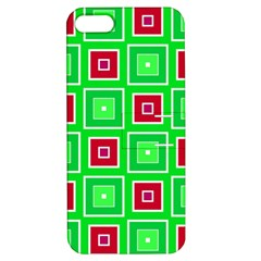Green Red Squares Pattern    			apple Iphone 5 Hardshell Case With Stand by LalyLauraFLM