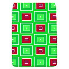 Green Red Squares Pattern    			removable Flap Cover (s) by LalyLauraFLM