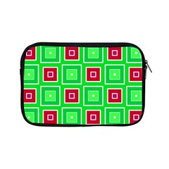 Green Red Squares Pattern    			apple Ipad Mini Zipper Case by LalyLauraFLM