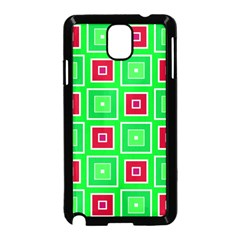 Green Red Squares Pattern    			samsung Galaxy Note 3 Neo Hardshell Case (black) by LalyLauraFLM